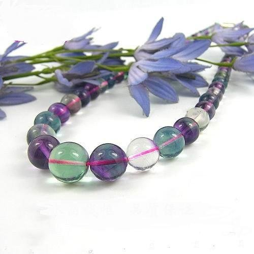 round bead  Fluorite necklace  $14
