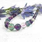round bead  Fluorite necklace  $14