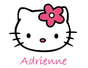 Hello Kitty- Personalized Notecards with Envelopes (10) (b)