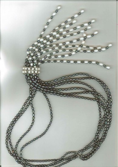 FIN0026 Rice Freshwater Pearls Necklace