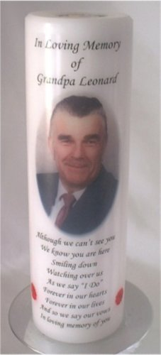 Personalized Photo Wedding Memorial Candle