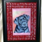 Black Labrador Retriever 8x10 Tile