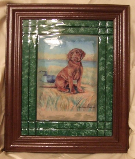 Chocolate Labrador Retriever Puppy 8x10 Tile