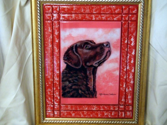 Chesapeake Bay Retriever 11x14 Tile Picture
