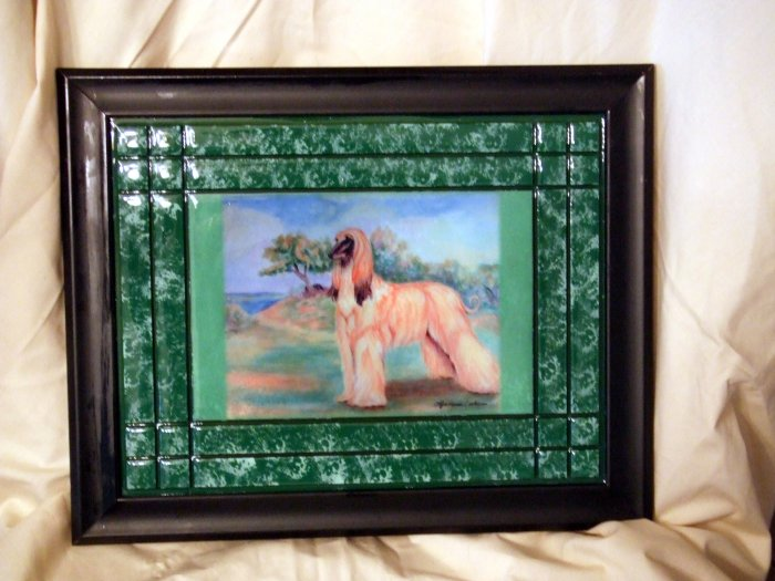 Afghan Hound 10x13 Tile Picture