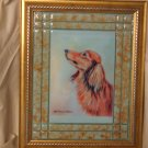 Long Hair Dachshund 11x14 Tile Picture