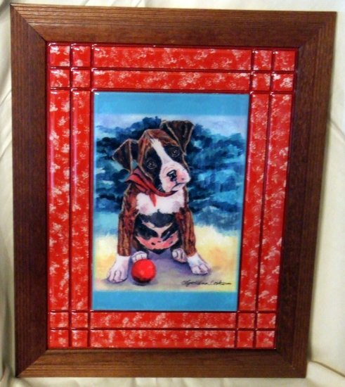 Boxer Puppy 10x13 Tile Picture