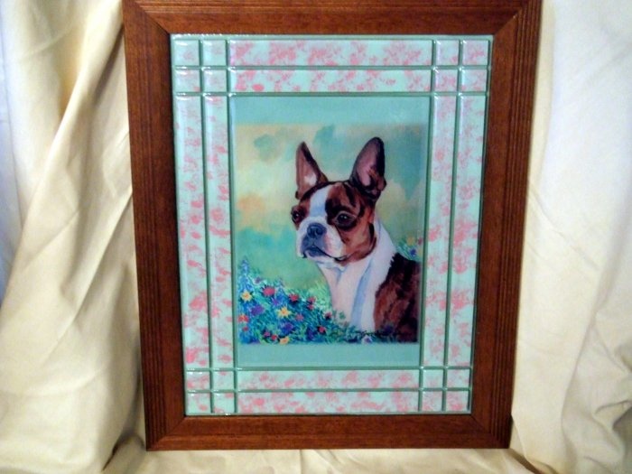 Boston Terrier 10x13 Tile Picture