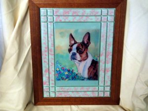 Boston Terrier 10x13 Tile Picture