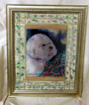 Bichon Frise 11x14 Tile Picture