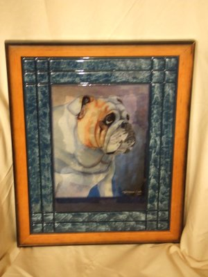 English Bulldog 11x14 Tile Picture