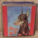 Doberman Pinscher 8x8 Glass Block