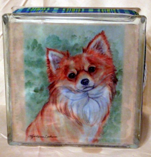 Chihuahua 8x8 Glass Block