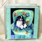 Japanese Chin 8x8 Glass Block Light