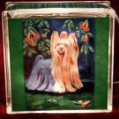 Yorkshire Terrier 8x8 Glass Block