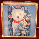 West Highland White Terrier 8x8 Glass Block