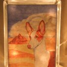 "Ibizan Hound 8""x8"" Glass Block Light"