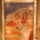 "Ibizan Hound 8""x8"" Glass Block Light"