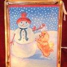 "Pomeranian Christmas 6""x8"" Glass Block Lamp"
