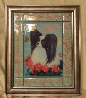 "Papillon 8""x10"" Tile Picture"