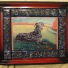 "Scottish Deerhound 8""x10"" Tile Picture"