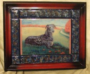 """Scottish Deerhound 8""""x10"""" Tile Picture"""
