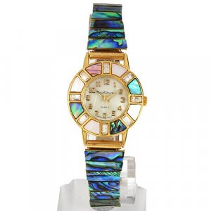 MARCEL DRUCKER MOTHER OF PEARL & CRYSTAL WATCH - BNIB