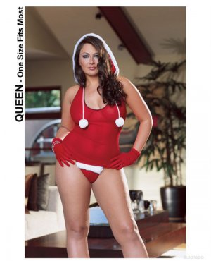 North Pole Hottie Cami with Hood, Gloves, and Thong ( Queen Size ) ~igemini.net~