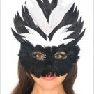 Sequin Feather Mask Adult Costume ( O/S ) ~igemini.net~
