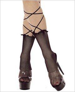 Stockings Fishnet Lace Up Ankle Anklet ( OS ) ~igemini.net~