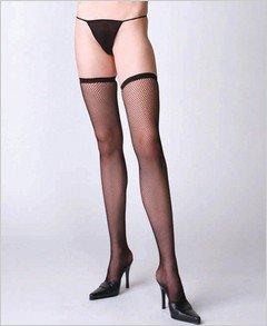 Stockings Fishnet Black Thigh High ( OS ) ~igemini.net~