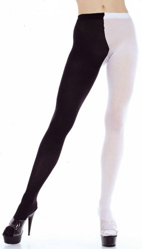 Tights Jester Black and White Costume ( Plus Size ) ~igemini.net~