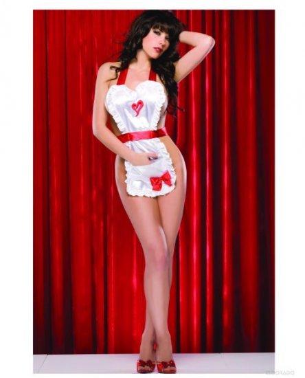 Valentine Satin Maid Apron ( O/S ) Adult Costume ~igemini.net~