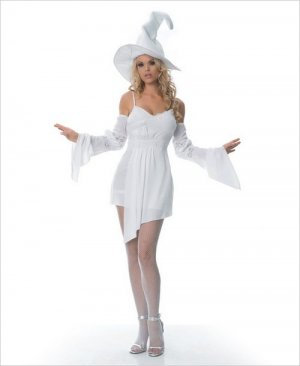 Fantasy Witch Dress, Sleeves & Hat Costume ( S/M ) ~igemini.net~