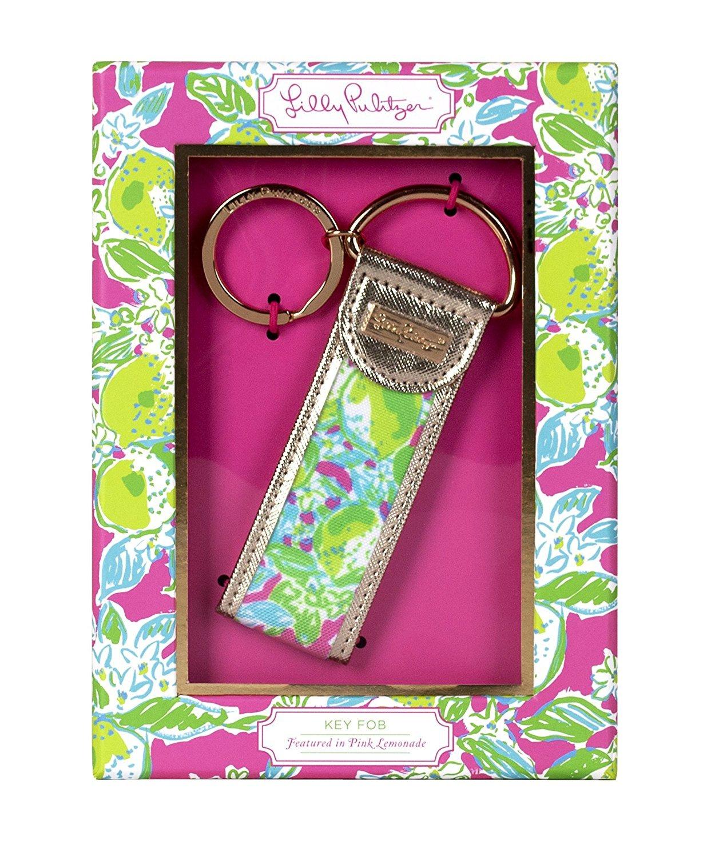 Lilly Pulitzer Key Fob, Pink Lemonade