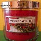 Bath and Body Works Slatkin Winter Garland Candle 4 oz 40 hour