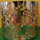 Bath & Body Works Slatkin Holly Leaves Metal Candle Sleeve