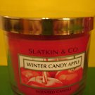 Bath & Body Works Slatkin Winter Candy Apple Candle 4 oz