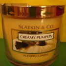 Bath & Body Works Slatkin Creamy Pumpkin Candle 40 hour
