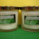 Bath & Body Works Slatkin 2 Eucalyptus Leaves Candles Sale