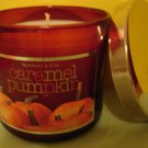 Bath & Body Works CARAMEL PUMPKIN Candle 40 hour New