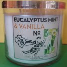 Bath & Body Works Eucalyptus Mint and Vanilla Candle 3 Wick Large