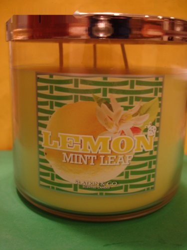 Bath & Body Works Lemon Mint Leaf Candle 3 Wick Large