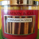 Bath & Body Works Cinnamon Stick Candle 65hr 3 Wick Large