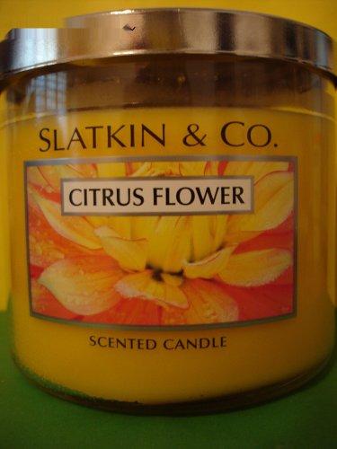 Bath & Body Works Slatkin Citrus Flower Candle 3 Wick