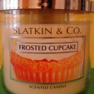 Bath and Body Works Slatkin Frosted Cupcake Candle 3 Wick 65 hour Large