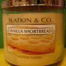 Bath and Body Works Slatkin Vanilla Shortbread 3 Wick Candle Large