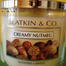 Bath & Body Works Slatkin Creamy Nutmeg 3 Wick Candle Large