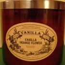 Bath and Body Works Vanilla Orange Flower Candle 3 Wick
