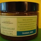 Bath & Body Works Aromatherapy Tranquil Mint Scrub Large Full Size Jar